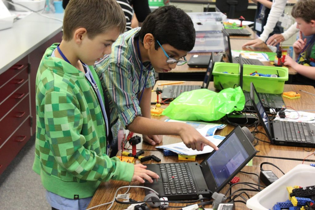 Kids Learning Robotics and Coding